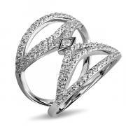 Серебряное кольцо L.A. Crystal с фианитом MGR010