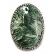 Кольцо с серафинитом (клинохлор) 763-nr