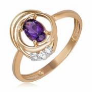 Золотое кольцо с аместистом