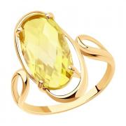 Кольцо из золота с цитрином арт. 716023