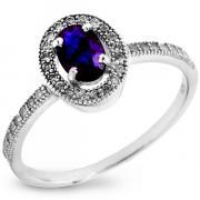 Серебряное кольцо Sandara с сапфиром и фианитами ANR1568