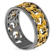 Серебряное кольцо 32-034