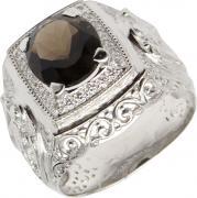 Серебряные кольца Маршал KM-141/3-rauh-topaz