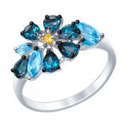 Серебряное кольцо SOKOLOV с топазами 92011403