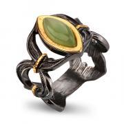 Серебряное кольцо с нефритом 71801061n