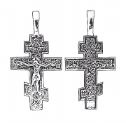 Крест православный нательный серебряный арт. 5-002ч