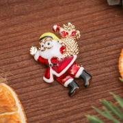 Брошь Санта с подарками