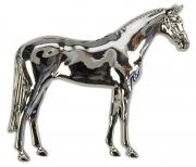 """HappyROSS Брошь металлическая 3D """"Лошадь"""", в коробке, 28х25мм"""