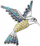 Серебряные броши Серебро России 4-1005R-205-74640