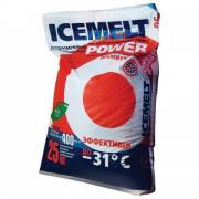Реагент антигололедный 25 кг, ICEMELT Power, до -31С, хлорис кальций + ингибитор коррозии, мешок