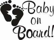 Наклейка Baby on Board!
