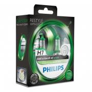 Галогенная лампа PHILIPS COLOR VISION GREEN H7 12V 55W 3350K
