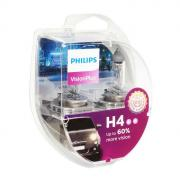 Лампа автомобильная Philips, Vision Plus, H4, 12 В, 60/55 Вт, P43t, 2 шт