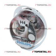 PHILIPS Лампа галогенная H4 12В 60/55 Вт Р43t +50% Vision Plus (2 шт.) Philips