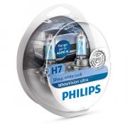 Лампа галогенная PHILIPS H7 White Vision Ultra 4200K 12V 55W, 2шт, 12972WVUSM