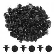 100шт 8 мм диагональный черный пластиковый брызговик ковровые накладные внутренние циферблаты для автомобилей