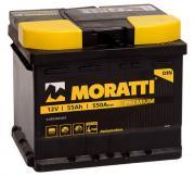 Аккумулятор автомобильный Moratti 6СТ-55 обр. (низкий кубик) 5 550 060 055 55Ач обр. 207x175x175 мм