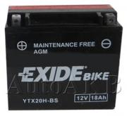 Аккумулятор мото EXIDE YTX20H-BS 175x87x155