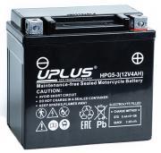 Мотоциклетный аккумулятор UPLUS HPG5-3 (YTX5L /YT5L) Nano Gel 113x70x105