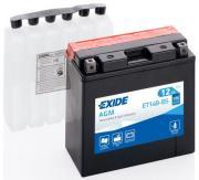 Аккумулятор автомобильный EXIDE ET14B-BS 12 Ач
