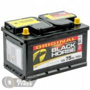 Аккумулятор Black Horse 75 А/ч, обратная полярность, низкий