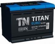 Аккумулятор TITAN Euro Silver 6СТ-63 обратный