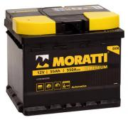 Аккумулятор автомобильный Moratti 6СТ-55 прям. (низкий кубик) 5 550 064 055 55Ач пр. 207x175x175 мм
