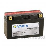 Мотоциклетный аккумулятор Varta Powersports AGM 507 901 012 YT7B-BS, 7 A/ч, 120 A, Прямая полярность