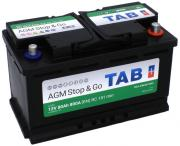 Аккумулятор автомобильный TAB AGM 6СТ-80 обр. (Start-Stop) 315x175x190