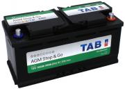 Аккумулятор автомобильный TAB AGM 6СТ-105 обр. (Start-Stop) 393x175x190