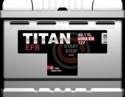 Аккумулятор Titan EFB 60L+ прям.пол
