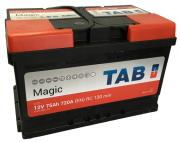 Аккумулятор автомобильный TAB Magic 57510MF 6СТ-75 обр. (низкий) 278x175x175