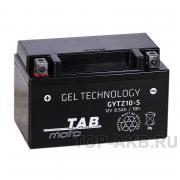 Мотоциклетный аккумулятор Tab GEL GYTZ10S YTZ10S, 8 A/ч, 110 A, Прямая полярность
