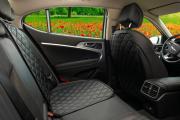 Чехлы (накидки) под автокресло. Защита сидений авто. Цвет: черный. 1 шт. РОМБ