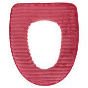 Чехол для сиденья унитаза 44х37см, искусственный мех, ПВХ, Велюр 1 шт красный