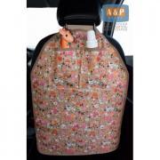 Накидка (чехол) на спинку автомобильного сиденья с карманами. Цвет: букашки.
