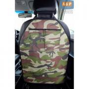 Накидка (чехол) на спинку автомобильного сиденья с карманами. Цвет: камуфляж.