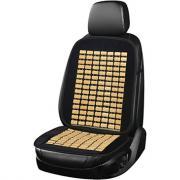 Массажная накидка на сиденье skyway massage-01 бамбук/полиэстер, черно-бежевый s01302035