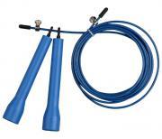 Скакалка высокооборотная Кроссфит стальной шнур в оплетке INDIGO, 97161 IR, Синий, 2,7 м