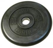 MB Barbell Atlet (31 мм, 20 кг), Black