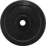 Диск обрезиненный Torres 5 кг. 25 мм. черный