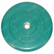 10 кг диск (блин) MB Barbell (зеленый) 31 мм.