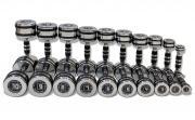 Набор гантелей хромированных Original FitTools 10 пар от 1 до 10 кг