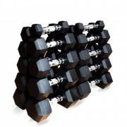 Набор гексагональных гантелей 10 пар от 1 до 10 кг Original Fit.Tools
