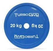 Диск TurboGym стальной с полимерным покрытием для пауэрлифтинга, 20 кг.