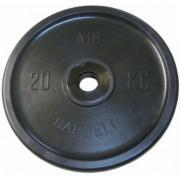 Диск Barbell Евро-классик черный 20 кг, 51 мм