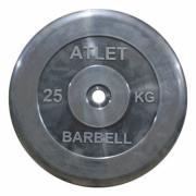 Диск обрезиненный MB Barbell Atlet 25 кг 26 мм (MB-AtletB26-25)