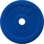 Диск обрезиненный Torres 2.5 кг. 25 мм. синий