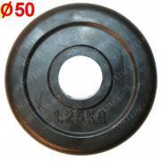 Блин обрезиненный (d 51 мм.) 1,25 кг. HKPL112