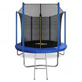 ARLAND Батут 8FT синий с внутренней страховочной сеткой и лестницей